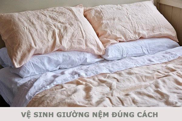 Cách vệ sinh giường nệm đúng cách